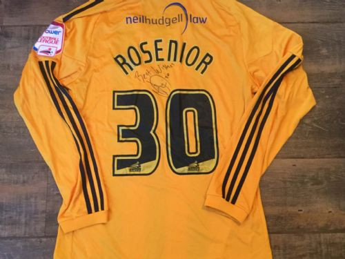 2010 2011 Hull City Rosenior Match Worn Home Poppy Football Shirt